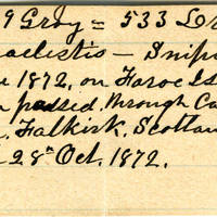 Clinton Mellen Jones, egg card # 534