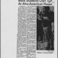 "1970-07-09 Daily Iowan Article: ""Black Students Own Turf At Afro-American House"""