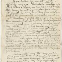 1919-05-21 Robert M. Browning to Dr. Mabel C. Williams Page 1