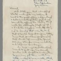 1942-07-18 Laura Davis to Lloyd Davis Page 1