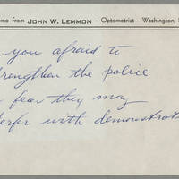 Memo from John W. Lemmon Page 4