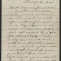 1918-03-14 Thomas Messenger to Mr. & Mrs. N.H. Messenger Page 1