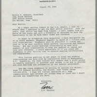 1985-08-29 Tom Harkin to Morris F. Johnson