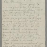 1943-09-03 Laura Hutchison to Laura Frances Davis Page 1