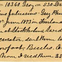 Clinton Mellen Jones, egg card # 568