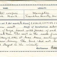 Frank H Shoemaker, egg card # fhs001u