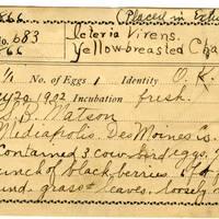 Samuel B. Matson, egg card # 014