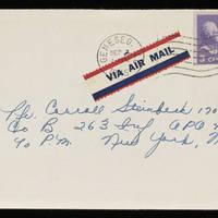 1945-09-02 Evelyn Burton to Carroll Steinbeck - Envelope