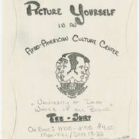 1978-09-18 Tee-Shirt: Picture Yourself in an Afro-American Cultural Center
