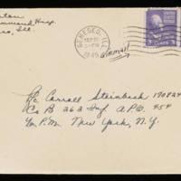 1945-09-26 Evelyn Burton to Carroll Steinbeck - Envelope