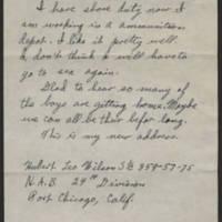 1945-08-17 Hubert Leo Wilson to Dave Edler