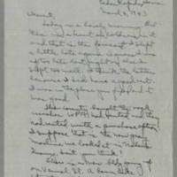 1943-03-04 Laura Davis to Lloyd Davis Page 1