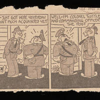 Carroll Steinbeck to Alfred and Vira Steinbeck Comic strip