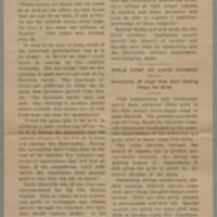 "1918-07-03 S.U.I. Newsletter Clipping: """"Conger Reynolds Tells Defeat of Kaiser's Finest"""""