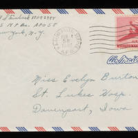 1946-02-02 Carroll Steinbeck to Evelyn Burton - Envelope