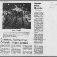 "1971-05-06 Iowa City Press-Citizen Article: """"Anti-War Rally Erupts Into Free-for-All Here"""" Page 2"