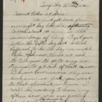 1918-05-13 Thomas Messenger to Mr. & Mrs. N.H. Messenger Page 1