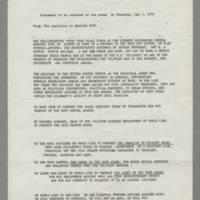 1970-05-01 -- Press Release