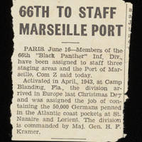 Article: '66th To Staff Marseille Port