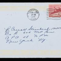 1946-02-11 Evelyn Burton to Carroll Steinbeck - Envelope