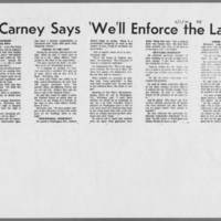 "1970-09-01 Daily Iowan Article: """"McCarney Says, 'We'll Enforce the Laws'"""""