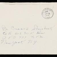 1946-01-17 Evelyn Burton to Carroll Steinbeck - Envelope