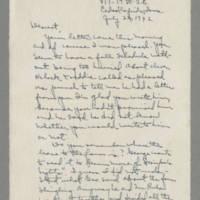 1942-07-22 Laura Davis to Lloyd Davis Page 1