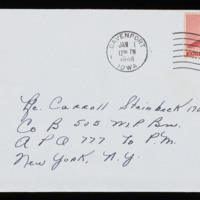 1946-01-20 Evelyn Burton to Carroll Steinbeck - Envelope