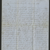 Peter Mowrer letters to sons Peter and William, 1856