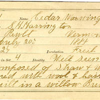 S H Harrington, egg card # shh002u