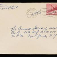 1945-09-25 Evelyn Burton to Carroll Steinbeck - Envelope