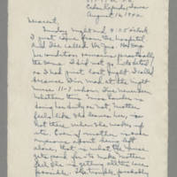 1942-08-16 Laura Davis to Lloyd Davis Page 1