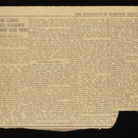 """1918-01-28 Minneapolis Morning Tribune Clipping: """"""""Snelling Course Closes: Students Await Glad News"""""""" Page 2"""