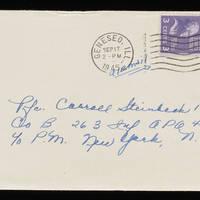 1945-09-14 Evelyn Burton to Carroll Steinbeck - Envelope