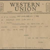 1943-04-07 Telegram
