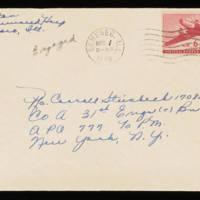 1945-11-30 Evelyn Burton to Carroll Steinbeck - Envelope