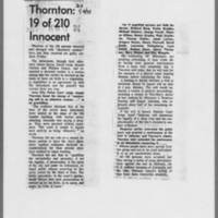 "1971-01-09 Daily Iowan Article: """"Thornton: 19 of 210 Innocent"""""