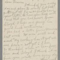 1943-07-28 Laura Hutchison to Laura Frances Davis Page 1