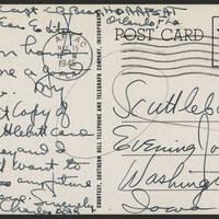 1945-05-15 Charles Bear to Dave Elder Postcard