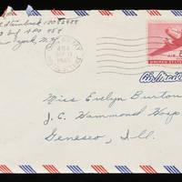 1945-09-10 Carroll Steinbeck to Evelyn Burton - Envelope