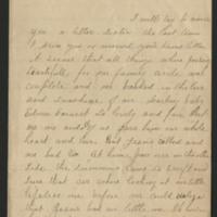 Ellen Mowrer Miller letters to Sarah, 1887