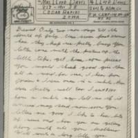 1943-07-07 Lloyd Davis to Laura Davis Page 1