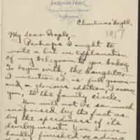 1917-12-25 Conger Reynolds to Mr. & Mrs. John Reynolds Page 1