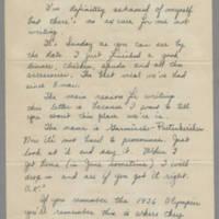 1946-01-20 Cpl. Richard T. Harvey to Dave Elder Page 1