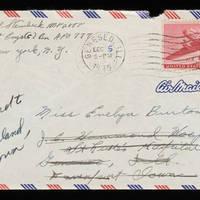 1945-11-18 Carroll Steinbeck to Evelyn Burton - Envelope