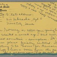 1942-05-09 Card to Laura Frances Davis
