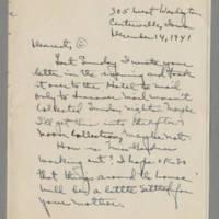 1941-12-14 Laura Davis to Lloyd Davis Page 1