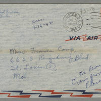 1944-01-04 Helen Fox to Miss Frances Camp Page 7 - Envelope