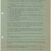 Hawkeye Student Party's Bill of Rights draft, February 1967