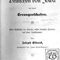 Die Deutschen von Iowa und deren Errungenschaften (part 1)